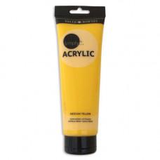 Daler-Rowney Simply akrylové farby 250 ml Medium yellow