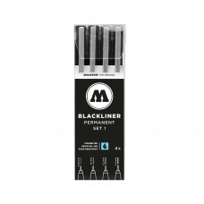 Molotow Blackliner Set-1 /  4ks fixiek (0.05 + 0.1 + 0.2 + 0.4)