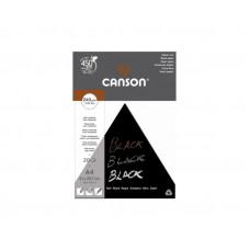 Canson blok čierny, A4, 240g/m2, 20 listov