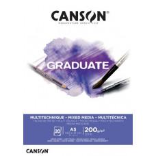 Graduate Mix-Med skicár A5 30 listov LG 200g White