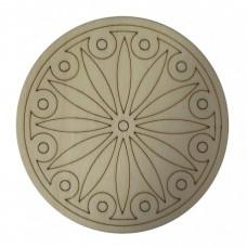 Okrúhla drevená mandala vzor 4