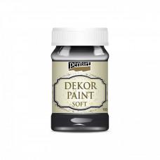 Dekor Paint Soft 100 ml, čierna