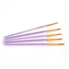 Sada okrúhlych syntetických štetcov t-brush 7012, 5 ks