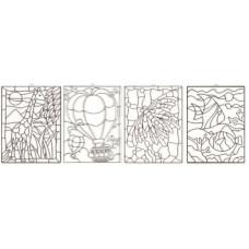 Šablóna veľká mix KOH-I-NOOR - sklíčko na zavesenie