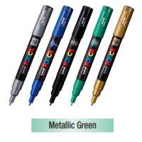 Uni Posca Akrylová fixka 1MR, 0.7 mm M6 metalická zelená