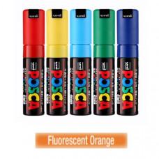 Uni Posca Akrylová fixka 8K, 8mm F4 fluorescenčná oranžová
